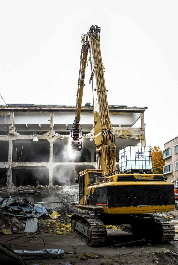 DYNASET HPW DUST High Pressure Dust Suppression Excavator Demolition web