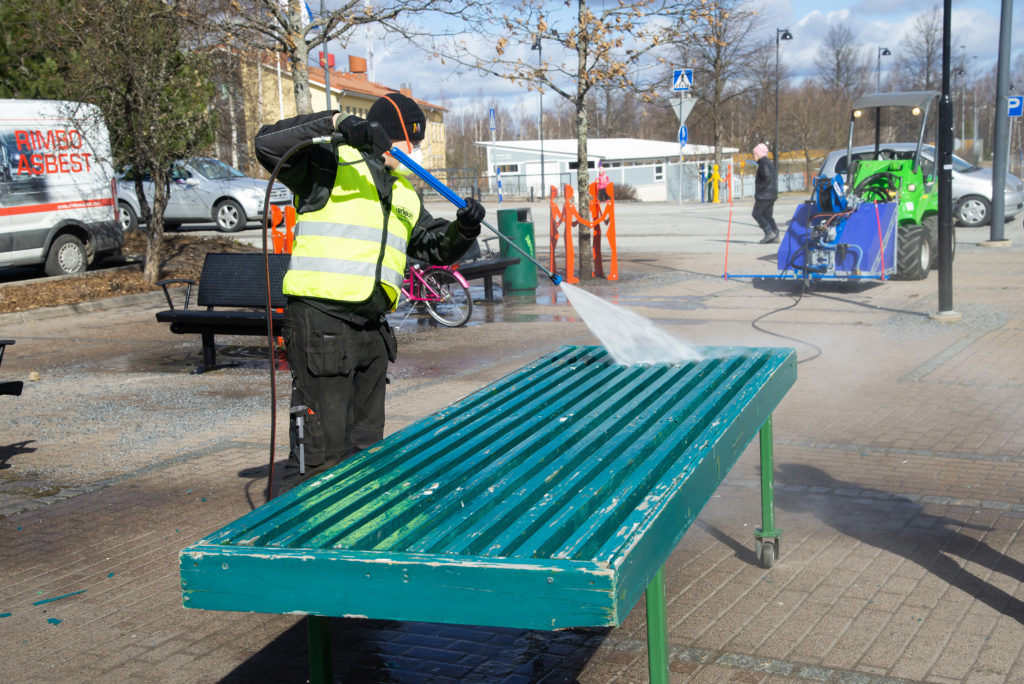 Power Washer as a disinfection tool