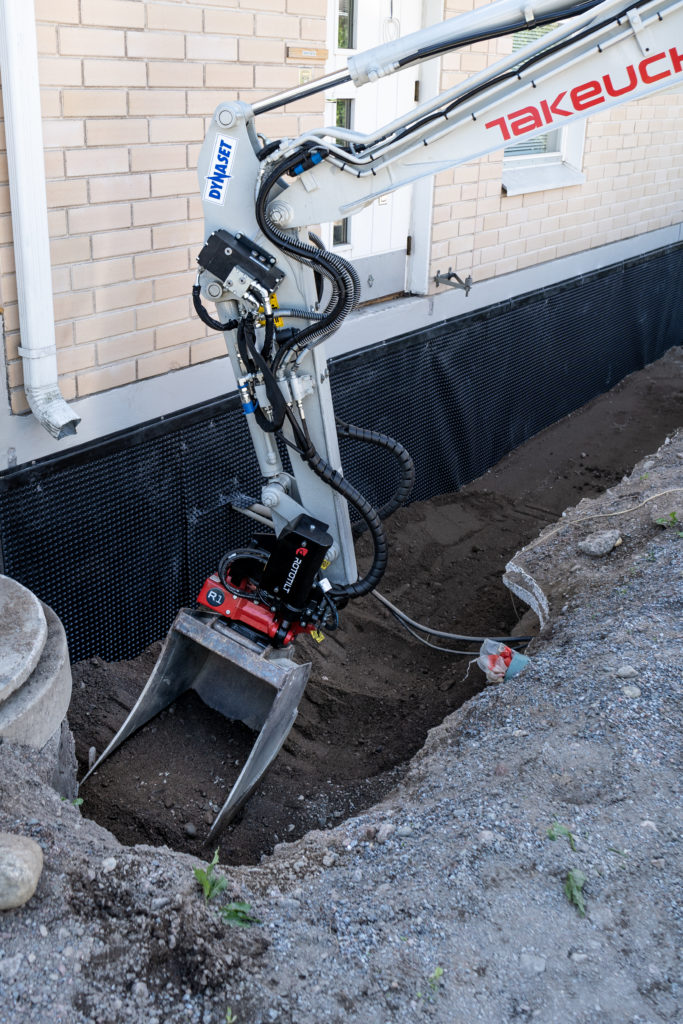 Vibration helps to compact soil