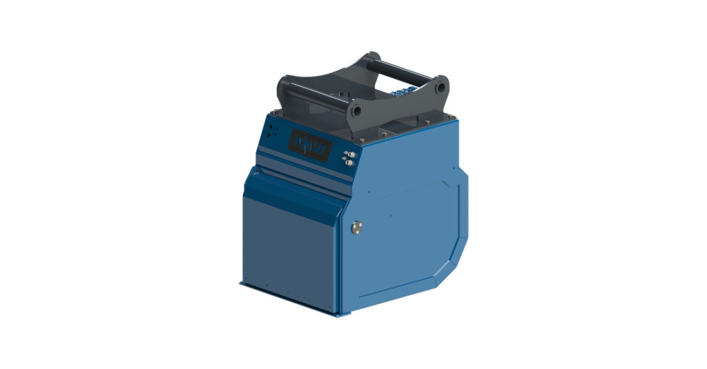 HRVB is a combination of an excavator bucket and a vacuum cleaner for waste sorting and recycling.