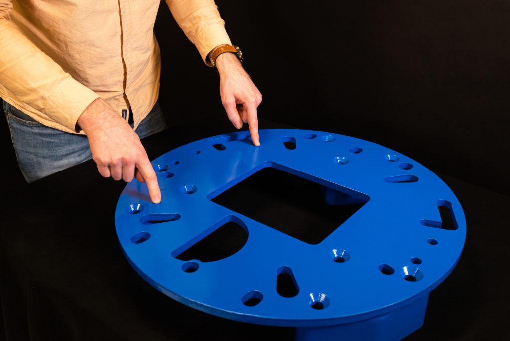 DYNASET Adapter plate kit for magnets and its designer Atte Karppinen