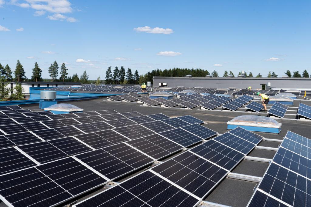DYNASET Solar power plant.